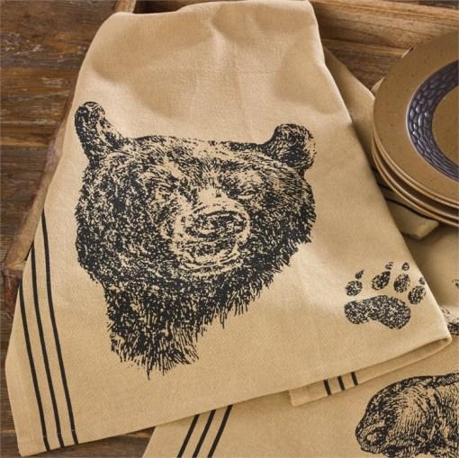 Bear Printed Dishtowel