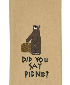 Did You Say Picnic Embroidered Dishtowel