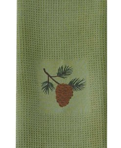 Pine Lodge Embroidered Dishtowel