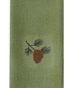 Pine Lodge Embroidered Dishtowel