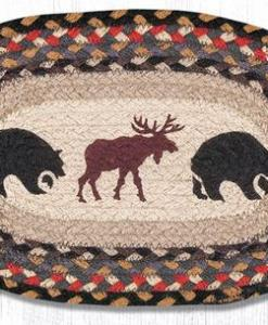 "Moose/Bear 10"" x 15"" Oval Braided Swatch"
