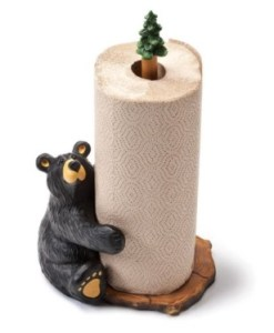 Bearfoots Brawnie Bruin Bear Hugging Paper Towel Holder