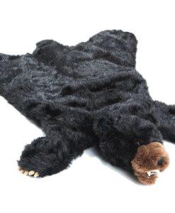 Black Bear Plush Rug - Large