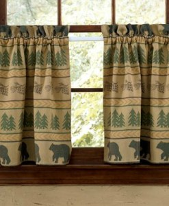 Bear Tracks Valance 36in