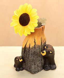"Big Sky Carvers ""Bear & Cub"" Bud Vase Figurine"
