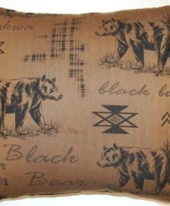 """Black Bear Tobacco 26"""" x 26"""" Pillow"""