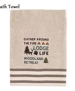 Cabin-words-canvas_Bath Towel