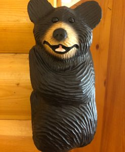 Wood Carved Hanging Bear