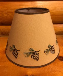 Pinecone Embroidered Lamp Shade
