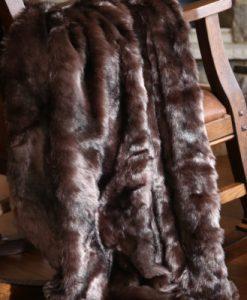 Brown Bear Fur Throw
