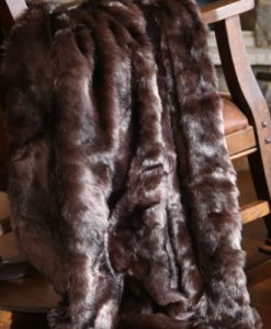Brown Bear Fur Throw