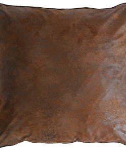 JB4164-Medium Brown Faux Leather Euro Sham