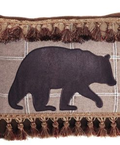 Bear with Tassle Fringe Pillow