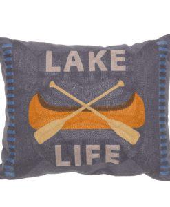 Lake Life Chain Stitch Pillow
