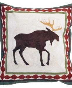 Moose Chain Stitch Pillow