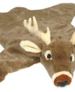 White Tail Deer Plush Rug - Large