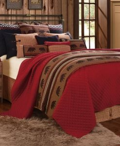 Bayfield Red Coverlet Bedding Collection)