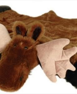 Moose Plush Rug - Large