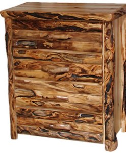 Log Front Four Drawer Chest