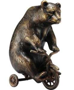 Metal Bear Paperweight