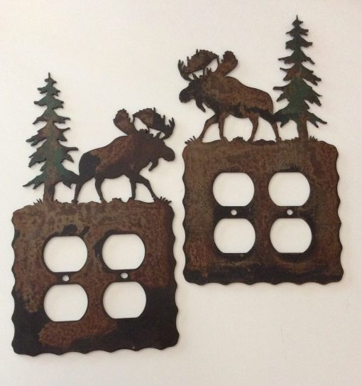 Moose Double Outlet Switch Plate Cover