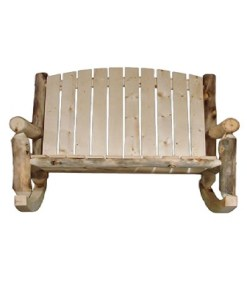 Outdoor Log Loveseat Rocker