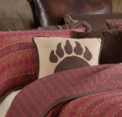 Rushmore Faux Suede Bear Claw Pillow