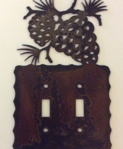 Pine Cone Double Toggle Switch Plate Cover