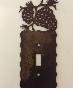 Pine Cone Single Toggle Switch Plate Cover