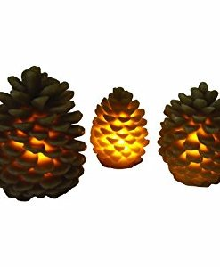 Pinecone LED Candle Set (3)