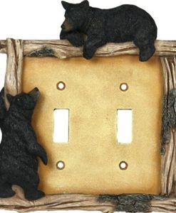 Bear On Limb Double Switch Plate Cover