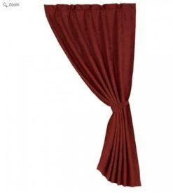 Red Suede Curtain with Liner