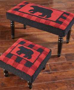 Buffalo Check Bear Hooked Bench and/ or Stool