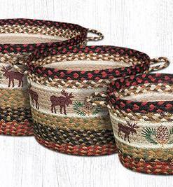 Moose & Pinecone Utility Basket (Multiple Sizes Available)