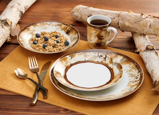 Hardwood Forest Dinnerware 16 Piece Set