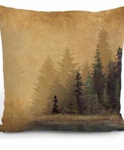 Misty Forest I Decorative Pillow