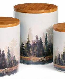 Misty Forest Canister Set - 3 pcs