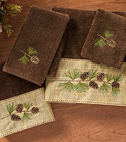 Pine Branch Towel 4 pc Set