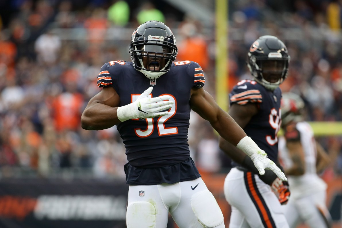 Khalil Mack comes in at No. 3 on NFL top 100 players of 2019
