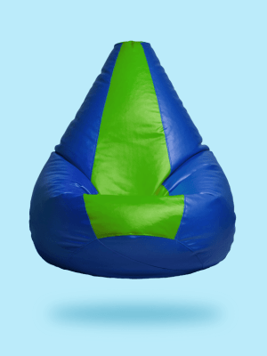 green and blue multi shade beanbag