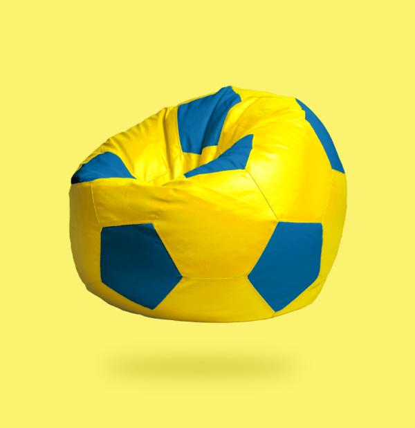 yellow blue football beanbag
