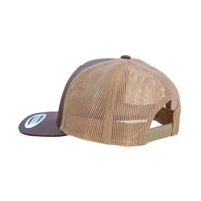 BearThug Snapback Ball Cap - Brown/Khaki Mesh (back)