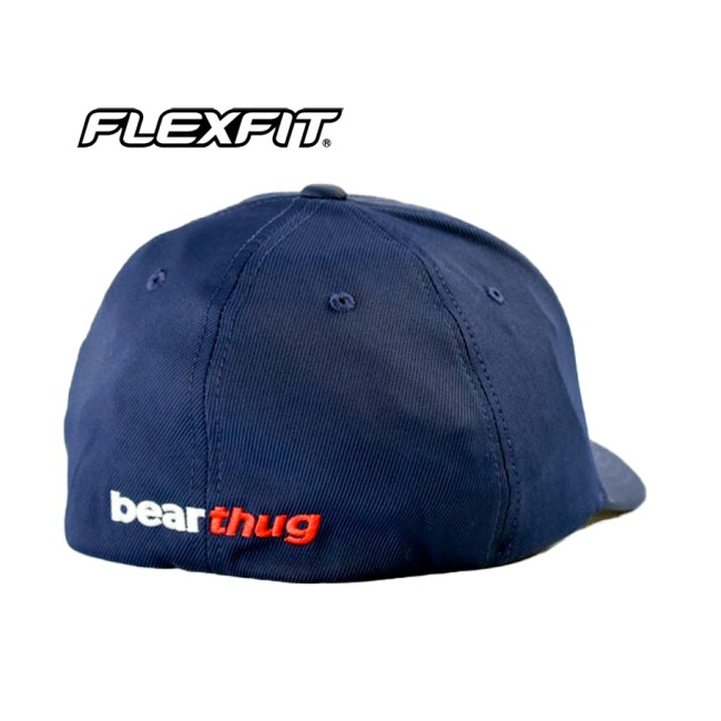 BearThug Flexfit Ball Caps - Navy (PVC Patch)