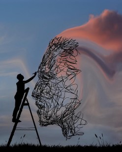 Painting the Sky - by Dominic Liam - be artist be art