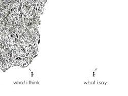 What I Think, What I say - Creative - be artist be art