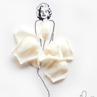 Marilyn Monroe dressed by Flowers - by Arteide
