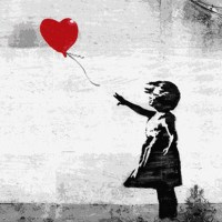 Let it go... Love is Freedom - Creative StreetArt by Bansky