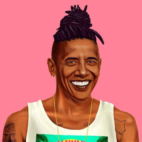 #Hipster #Celebrities - Creative illustrations by Amit Shimoni - be artist be art magazine