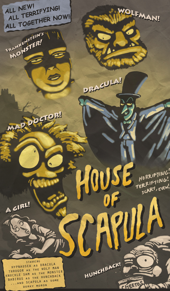 House of Scapula Aidan Casserly for beartoons