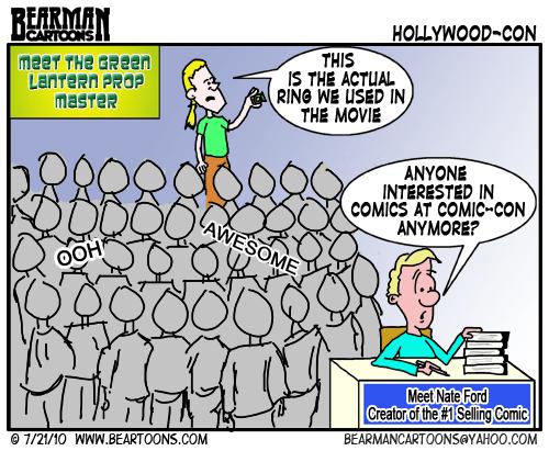 Bearman Cartoon How Hollywood took over Comic-Con